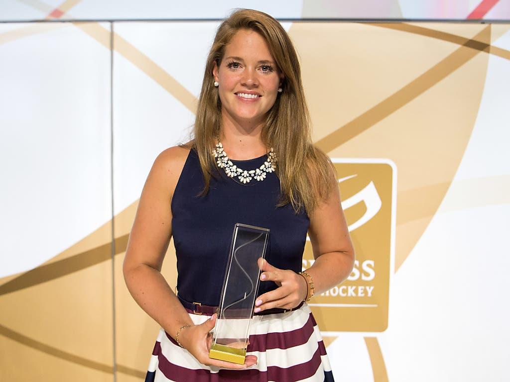 Florence Schelling gewann einen Special Award bei den Swiss Ice Hockey Awards von 2018