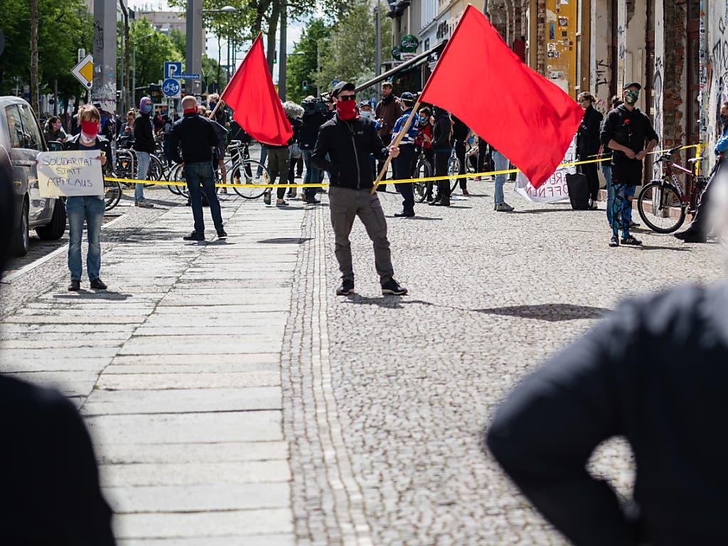 Auch in der Südvorstand in Leipzig kam es zu kleineren Aufmärschen zum 1. Mai.
