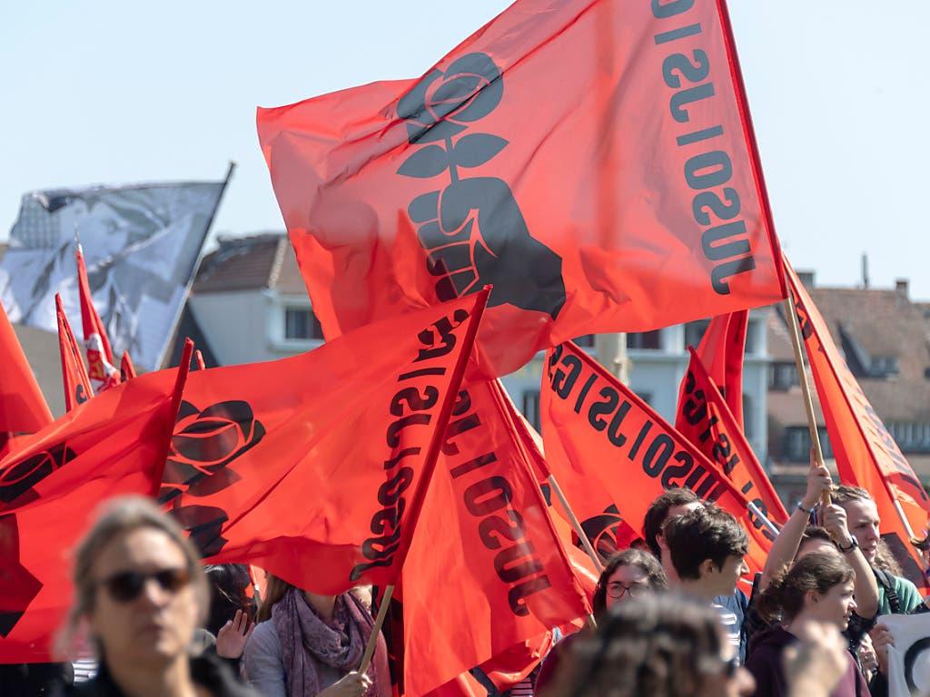 Wegen Coronavirus-Pandemie 2020 nicht zu sehen: Ein Demonstrationszug, hier am 1. Mai 2019 in Basel.