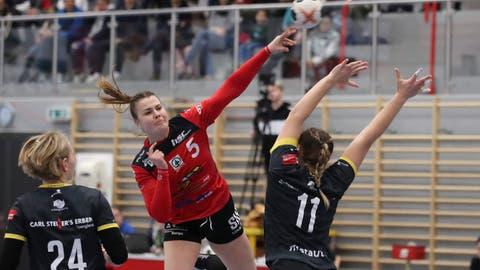 Die Damen des HSC Kreuzlingen beim Meisterschaftsspiel in der EgelseehalleKreuzlingen gegen Yellow Winterthur. Solche Events fehlen dem Club derzeit - auch finanziell. ((Bild: Mario Gaccioli - 29.2.2020))