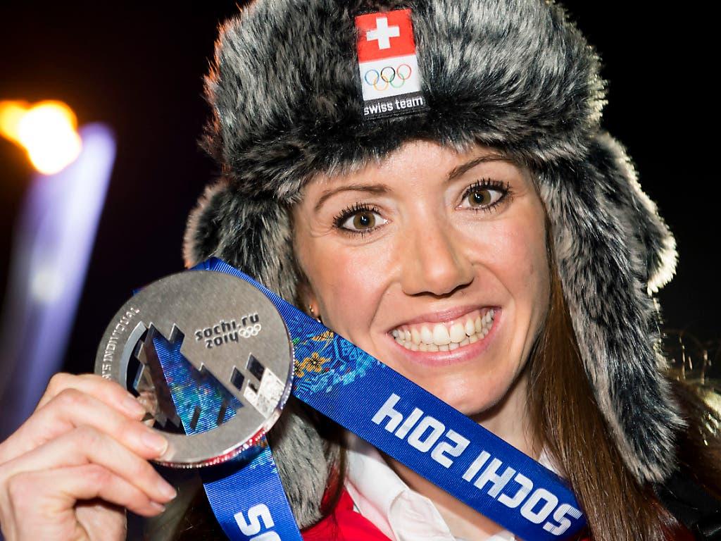 Biathlon-Pionierin: 2014 holte Selina Gasparin mit Olympia-Silber die erste Schweizer Medaille bei einem Grossanlass