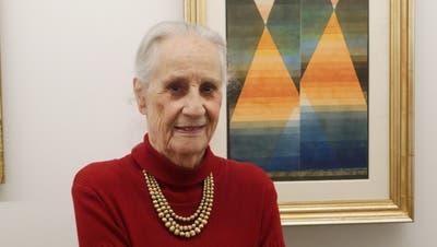 Museumsdirektorin Angela Rosengart vor einem ihrer liebsten «Klees»: Sein Aquarell «Doppelzelt» schuf Paul Klee 1923. (Bild: PD)