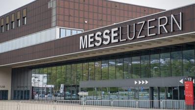 Die Messe Luzern auf der Allmend. (Bild: Urs Flüeler / Keystone (Luzern, 19. April 2020))