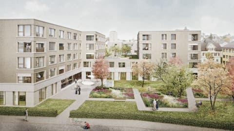Visualisierung des geplanten Pflegeheims der Sana Fürstenland AG in Gossau. (PD)