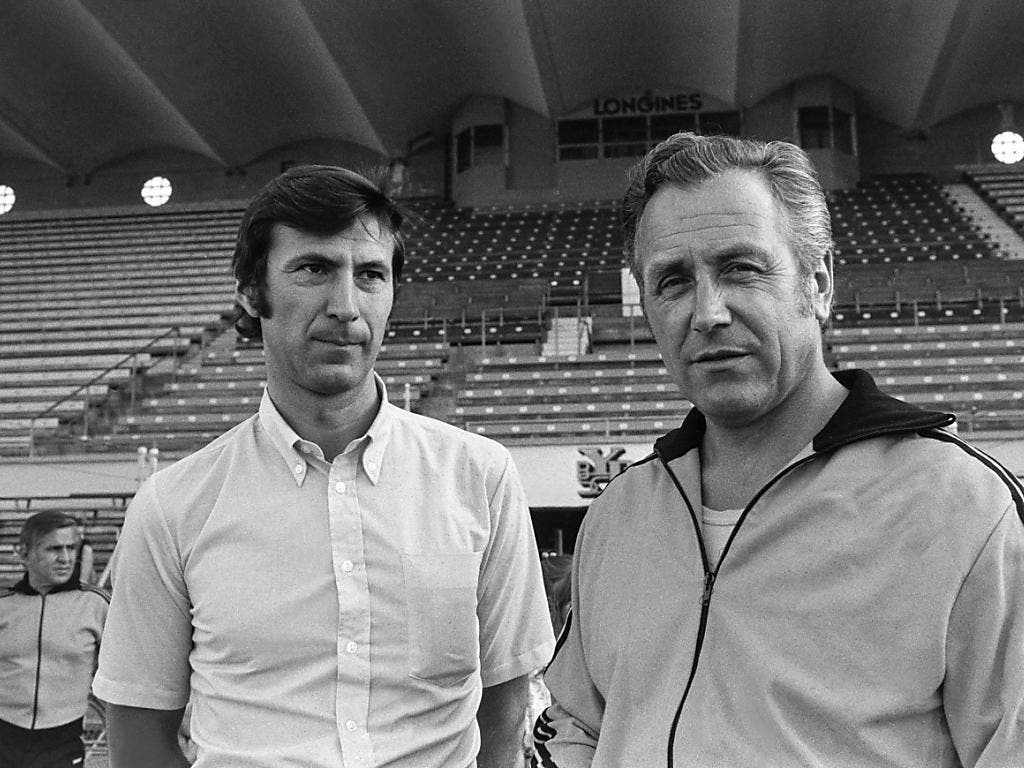 Zwei Protagonisten aus den besten Zeiten der Young Boys: Heinz Schneiter (links) und Walter Eich. Sie waren ab dem Winter 1970/71 das YB-Trainerduo