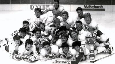 Die erfolgreiche Uzwiler Mannschaft anfangs der ersten Nationalliga-B-Saison 1987/1988. (Bild: PD)
