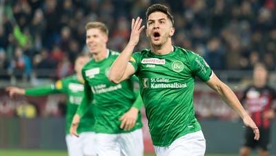 Stürmer Boris Babic wird wohl noch länger für den FC St.Gallen Tore schiessen. (Bild: Michel Canonica)