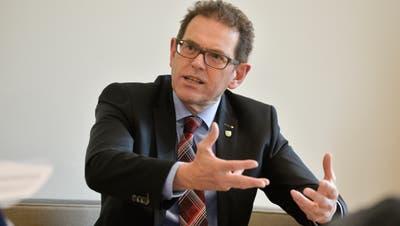 Regierungsrat und Ständerat Jakob Stark (SVP) nimmt Stellung zu seinem doppelten Lohn. (Bild: Donato Caspari)
