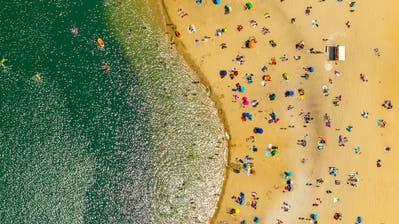 Strandbad am Silbersee II, Haltern am See, Nordrhein-Westfalen, Deutschland. (Bild: Hans Blossey)
