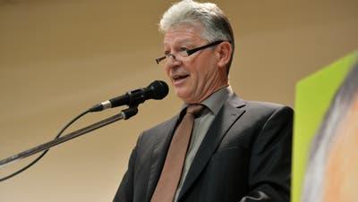 Hans Mäder – hier an der Wahlfeier von Nationalrat Kurt Egger – ist seit 2015 Gemeindepräsident von Eschlikon. ((Bild: Donato Caspari, 20.11.2019))