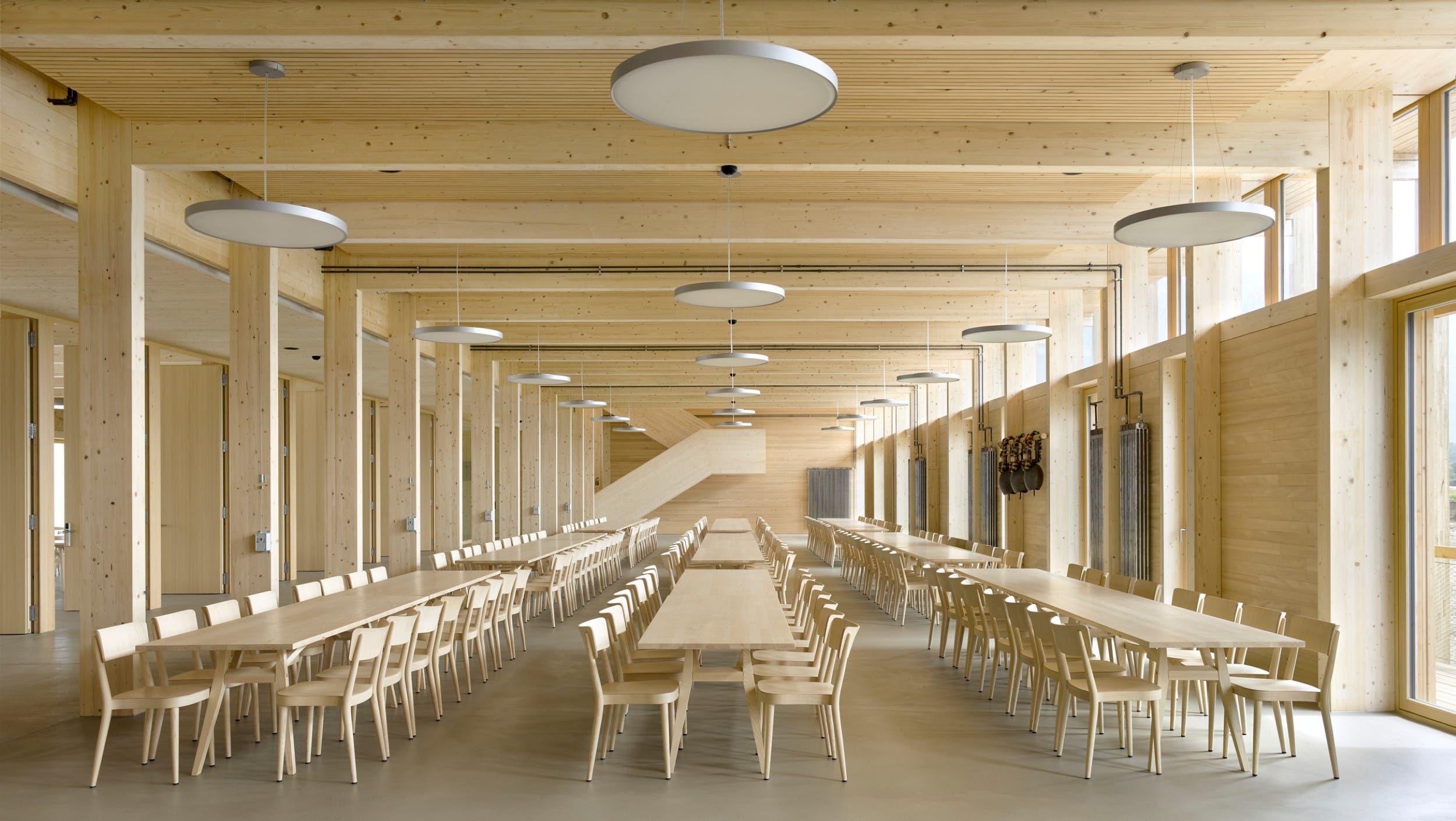 Blick in die Mensa des Landwirtschaftlichen Zentrums St.Gallen in Salez.
