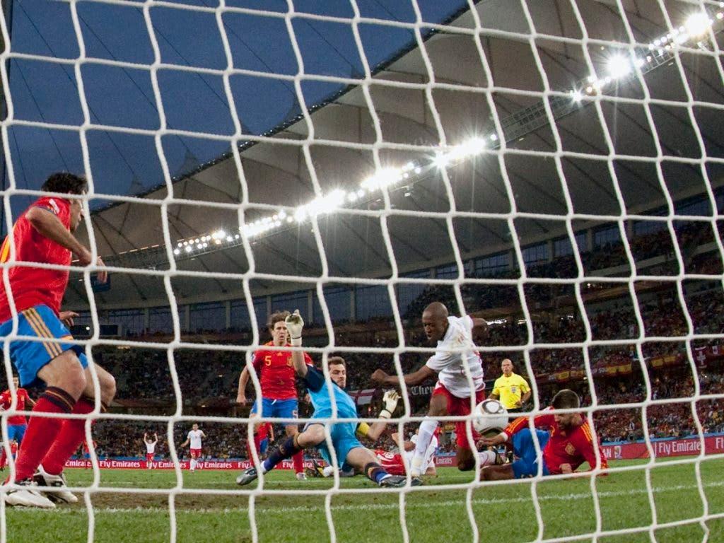 Der schönste und wichtigste Moment seiner Karriere: Gelson Fernandes schiesst die Schweiz zum Sieg an der WM 2010 gegen Spanien