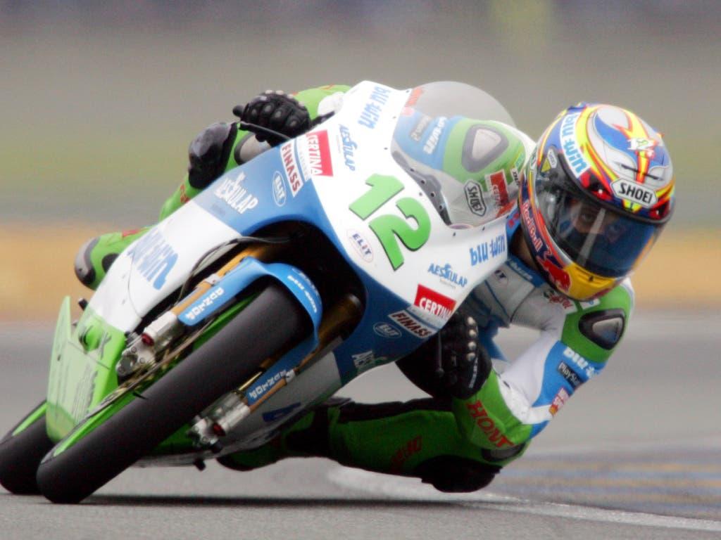 Mit dem Sieg in Le Mans katapultierte sich Lüthi vor 15 Jahren endgültig in den engeren Kreis der Anwärter auf den 125-ccm-Titel