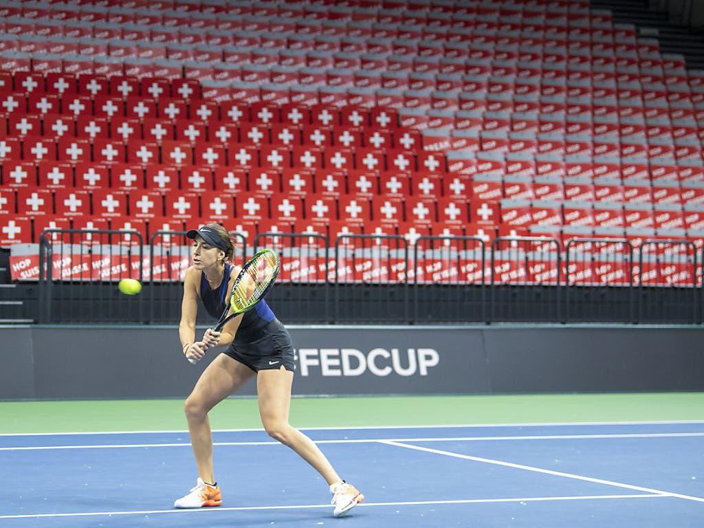 Belinda Bencic kann womöglich schon bald, wenn sie will, in Biel nationale Matches bestreiten - aber nur vor leeren Rängen