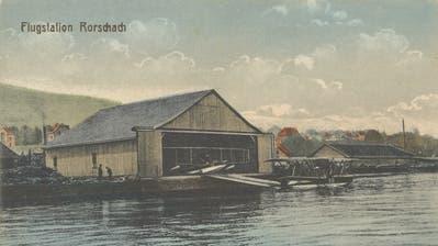 Der 1920 erbaute Flugschuppen diente als Rorschacher Flugstation. (Bild: Archiv Wolfgang Göldi)