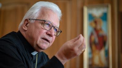 Der St.Galler Bischof Markus Büchel freut sich darauf, die Gläubigen spätestens ab 8. Juni wieder vor Ort im Gottesdienst zu sehen. (Benjamin Manser)