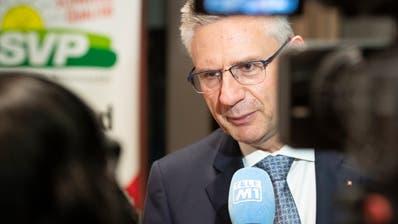 Andreas Glarner, der neue Präsident der SVP des Kantons Aargau, will auch Präsident der SVP Schweiz werden. (Alex Spichale / AGR)