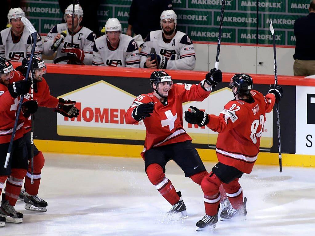Im WM-Halbfinal gegen die USA gelang den Schweizern eine nahezu perfekte Leistung