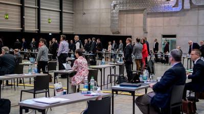 Kantonsratssitzung Messe LuzernKantonsratssession.Fotografiert am 18 Mai 2020 in Luzern( Nadia Schärli / Luzernerzeitung ) (Nadia Schärli / Luzerner Zeitung)
