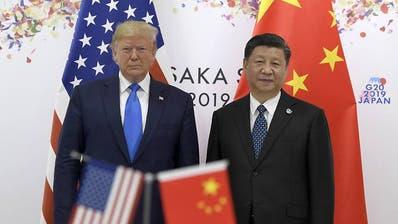 Die Spannungen zwischen China und den USA dauern an.