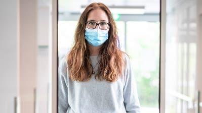 Anja Breitenmoser, Pflegerin auf der Covid-19-Station in Münchwilen. (Bild: Andrea Stalder)