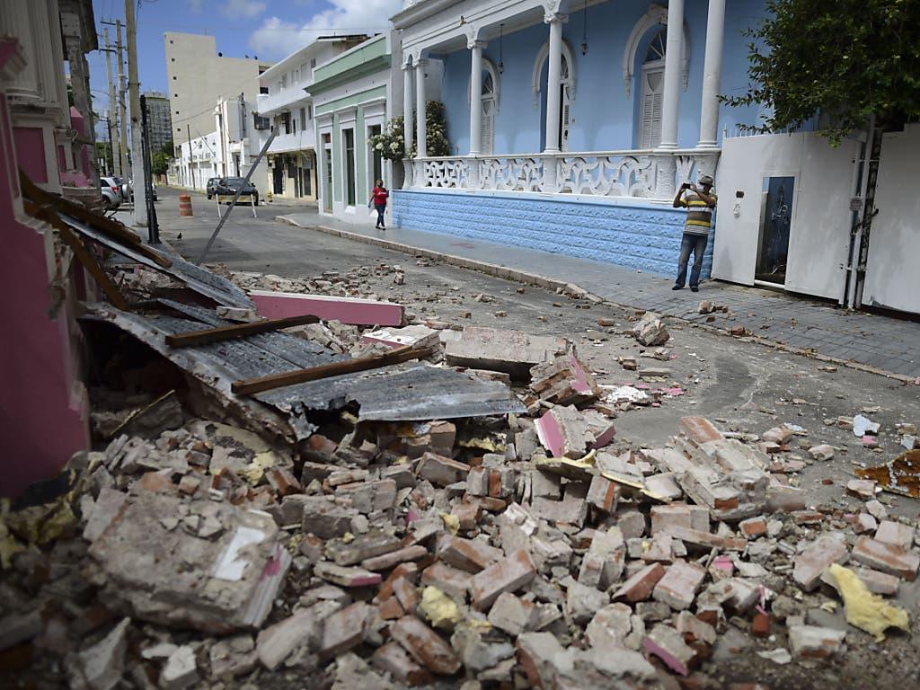 Unübersehbare Schäden nach dem erneuten Erdbeben auf der Karibikinsel Puerto Rico.