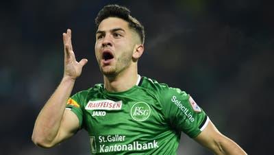 Sieben Tore hat Boris Babic in der Vorrunde für den FC St.Gallen erzielt. (Bild: Gian Ehrenzeller / KEYSTONE)