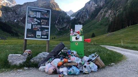 Abfall liegen zu lassen ist nicht gut. Aber es sei verhältnismässig sehr wenig Abfall, der an diesem Auffahrtsdonnerstag liegen blieb. (Facebook / Appenzell.ch)