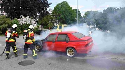 Die Feuerwehr konnte den Brand löschen. (Bilder: Kapo)