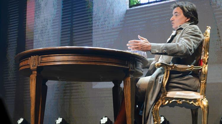 Christian Constantin ist Gastgeber der inoffiziellen Sitzung. (Bild: Keystone)