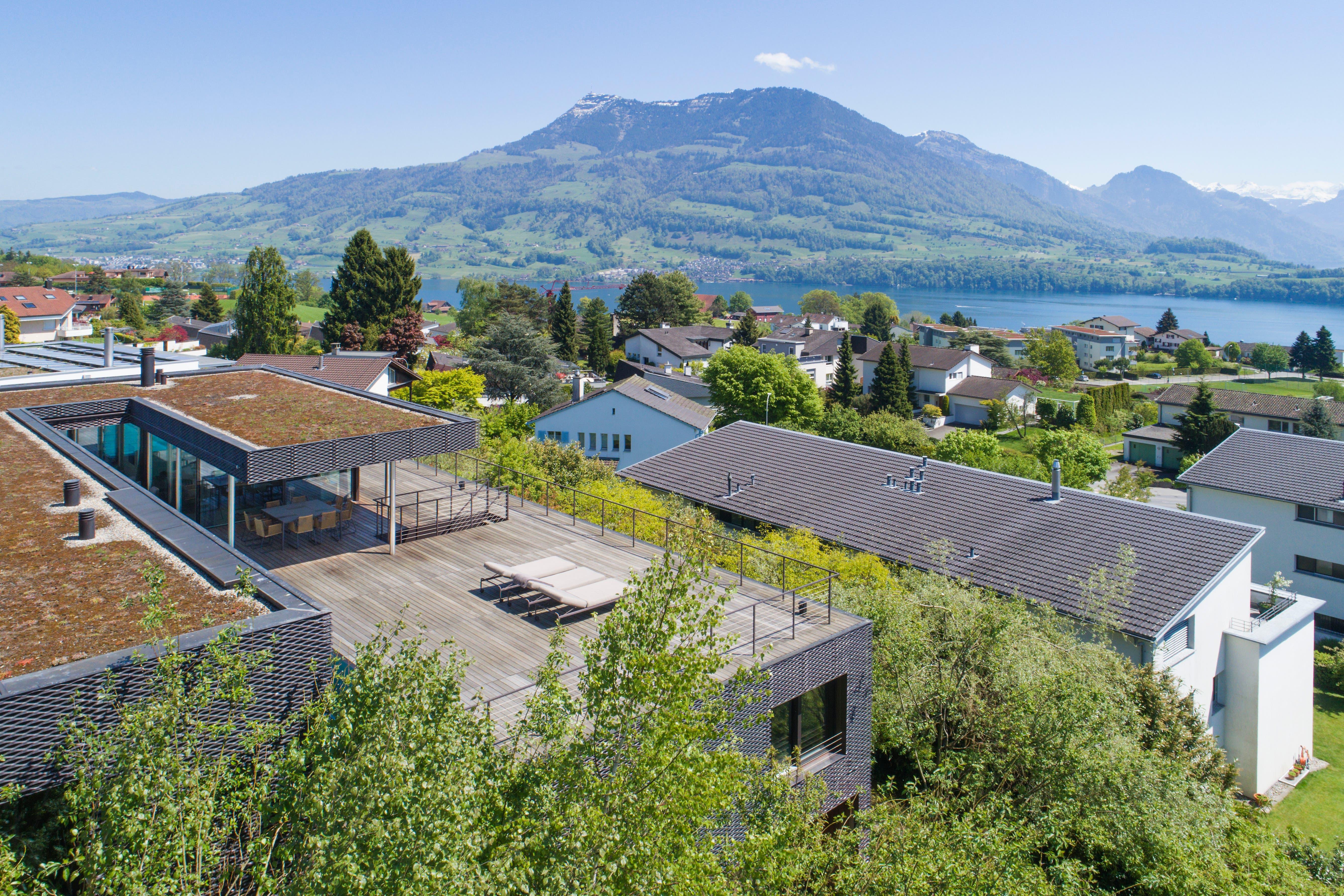 «Gute Wohnlagen in der Stadt und in Meggen sind besonders gefragt.» Blick auf eine Liegenschaft in Meggen LU.