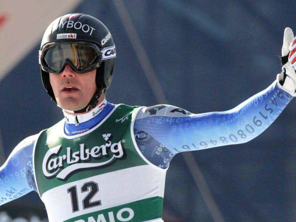 Bruno Kernen war nach seinem 5. Platz in der Abfahrt nicht erfreut