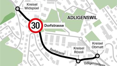 Neuer Anlauf für Tempo 30 in Adligenswil – diesmal ohne Poller