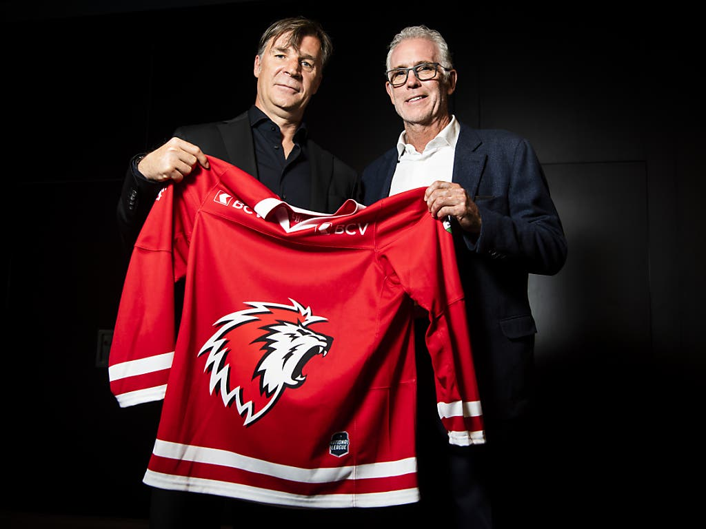 Craig McTavish (rechts) bleibt auch nach dem Besitzerwechsel Trainer des Lausanne HC