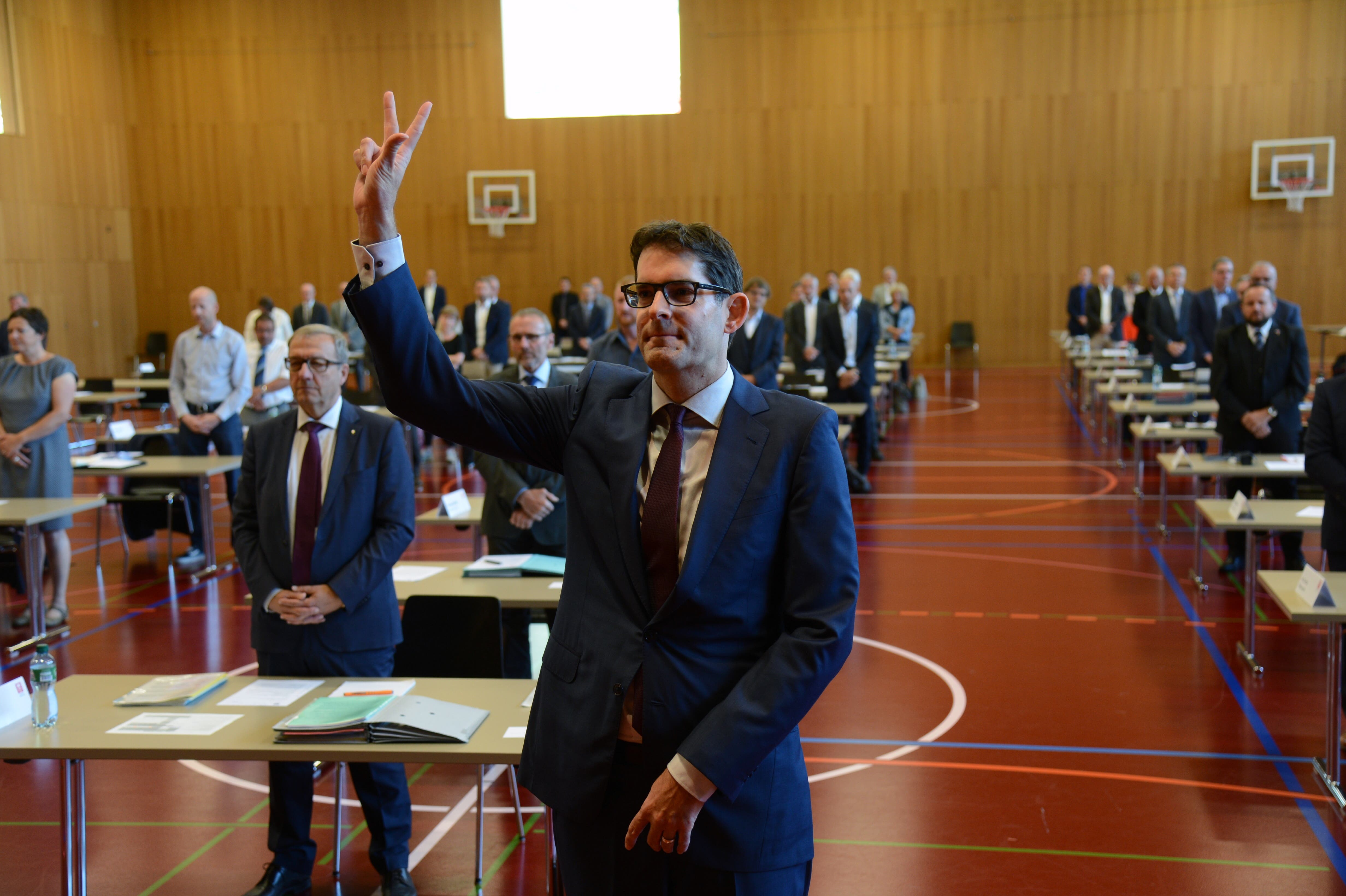 Landratsekretär Emanuel Brügger wurde vereidigt
