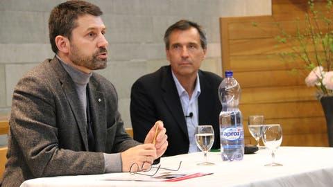 Gottfried Locher (links) tritt per sofort von seinem Amt zurück.
