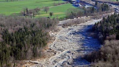 Luftaufnahme der Aue Laui in Giswil. (PD)