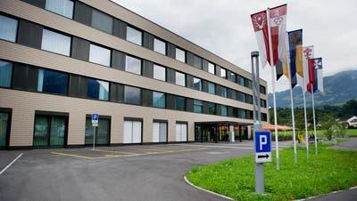 Kantonsspital Obwalden in Sarnen fotografiert am 20. August 2014.Spital, Kantonsspital, Pflege, Notfall (Corinne Glanzmann (neue Nz) / Neue Nidwaldner Zeitung)
