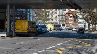 Der Pilatusplatzin Luzern, hier die Obergrundstrasse stadtauswärts. (Bild: Dominik Wunderli (28. März 2019))