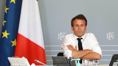 """Will sein Land mit der """"StopCovid""""-App aus der Krise führen: Frankreichs Präsident Emmanuel Macron. (Bild: Keystone)"""