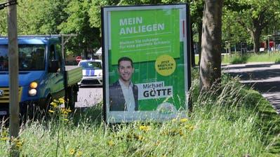 Das Wahlplakat an der Bogenstrasse. (Bild: Reto Voneschen (29.5.2020))