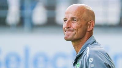 Der bald 58-jährige Deutsche Peter Zeidler ist seit zwei Jahren Trainer des FC St.Gallen. (Martin Meienberger/Freshfocus)