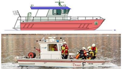 Skizze des neuen Lösch- und Rettungsboots. (PD)