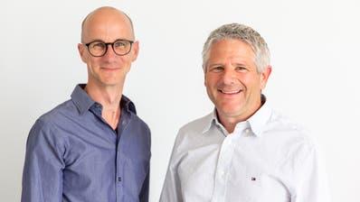 Geschäftsleitung von Solve GmbH in Buchs: Patrik Neff (links) und Daniel Gillmann (PD)