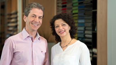 Peter und Andrea Artho, Inhaber des St.Galler Fachgeschäfts Artho Bodenideen. (Bild: PD)