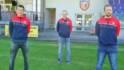 Pascal Nussbaumer (Trainer 2. Mannschaft), Marcel Werder (Sportchef), Roland Schwegler (Trainer 1. Mannschaft), von links. (Bild: PD)