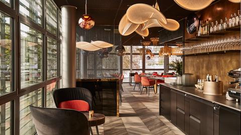 Die umgebaute Deli Cafébar Le Piaf im KKL Luzern. (Bild: PD)