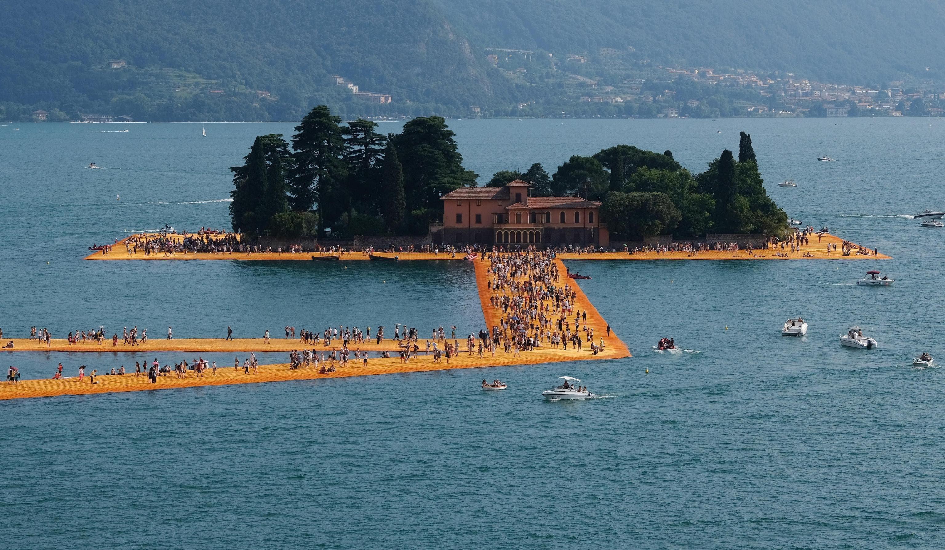 Die Installation «The Floating Piers» von 2016 in Italien.