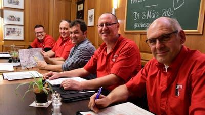 Der Vorstand des Märstetter Gewerbevereins. (Bild: PD/Werner Lenzin)