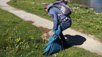 Die Helfer haben an der «Frutt-Putzetä» knapp 200 Kilogramm Abfall eingesammelt. (Bild: PD)
